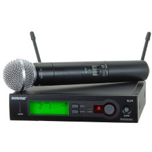 SHURE SLX24/SM58 Handheld Automatic Setup Wireless System $20 Instant Coupon Use Promo Code: $20-OFF