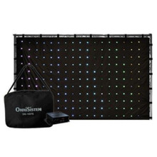OMNISISTEM OS-1007E DJ Curtain Backdrop Controller with Built-in Programs 187 LEDS SD Card and Carry Bag
