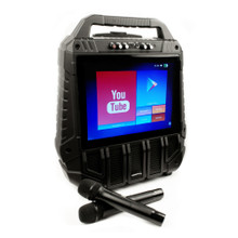 """VOCOPRO WiFiOKE Rechargeable All-in-One Karaoke Machine with 14"""" Display and 2 Wireless Mics $5 Instant Coupon use Promo Code: $5-OFF"""