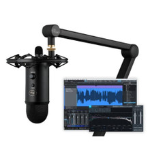 BLUE MICROPHONES YETICASTER STUDIO Professional USB Mic & Software Podcast Recording System