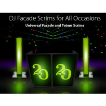 PRO-X XF Series Special Event DJ Facade Interchangeable Scrim Sets