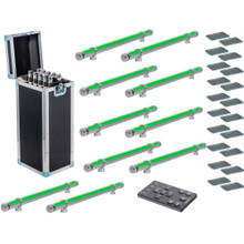 APE LABS STICK TOURPACK 10 Wireless Battery Powered LED Tube Fixtures in Charging Flight Case