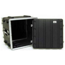 MBT 1910 Black 10U Rackmount Flight / Road Case with Front and Rear Rails