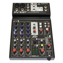 PEAVEY PV6BT Bluetooth USB FX Recording Mixer with iPad Cradle