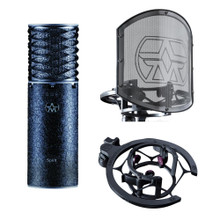 ASTON SPIRIT BLACK BUNDLE Professional Limited Edition Studio Mic & Swiftshield Shockmount Set