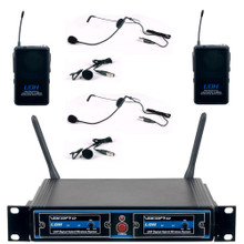 VOCOPRO UDH-DUAL-B Rackmount 2 Mic / 2 Lavalier Wireless System