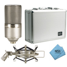 MXL MXL 990-HE Heritage Edition Large Diaphragm Condenser Microphone with Shockmount and Case
