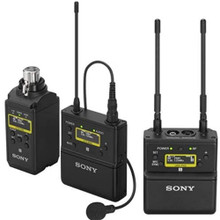 Sony UWP-D26/14 Videographer Camera Mount Wireless Combo Lavalier & Microphone Transmitter System