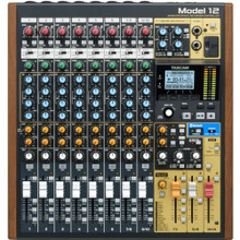 TASCAM MODEL 12 All-in-One Mixing Studio: Mixer/Interface/Recorder with USB & Bluetooth FREE SD CARD & HEADPHONES THRU 9/30