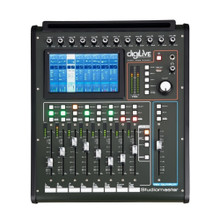 """STUDIOMASTER DIGILIVE 16 Audio Mixing Console with USB, Wi-Fi, Apps, Motorized Faders and 7"""" Display"""