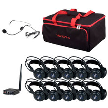 VOCOPRO SILENTSYMPHONY-LEARN-TALK  10 Headphone & 1 Headset Wireless Private Class System