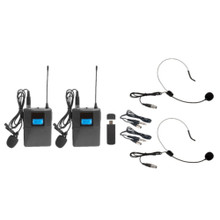 VOCOPRO USB-CAST-BODYPACK Dual Wireless USB Plug & Play PC/Mac Headset/Lavalier/Guitar System