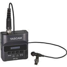 TASCAM DR-10L Digital Micro Linear Recorder with Lavalier Mic and Izotope RX7 Software