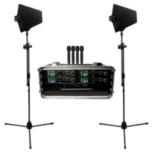 VOCOPRO BENCHMARK-QUAD-HH Tour Grade Handheld Wireless System with Directional Antennas