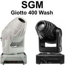 SGM GIOTTO 400 WASH CMY Color Mixing Black / White Intelligent Fixture