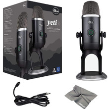 BLUE MICROPHONES YETI X PLUS PACK Professional USB Microphone for Gaming, Streaming, Podcasting with Software Bundle