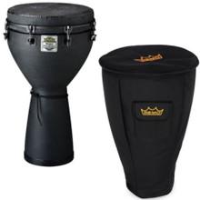 "REMO DJ0014BEMondo Designer Series World Percussion 14"" Black Earth Djembe with Deluxe Bag"