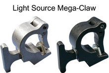 "LIGHT SOURCE Mega-Claw Best/Fastest 360 Degree 1100lb Aluminum Clamp fits 1.5"" - 2"" Pipe"