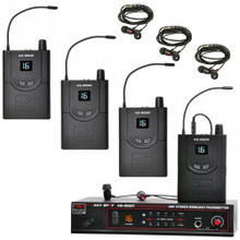 GALAXY AS-9504 Complete Wireless In-Ear Monitor Band Pack System with EB4 Ear Buds