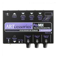 ART PROMIX Compact 3-Channel Expander Microphone Mono Mixer