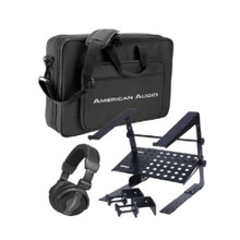AMERICAN AUDIO VMS-PRO-PACK DJ Controller Soft Carry Bag, Laptop Stand and Headphone $5 Instant Coupon use Promo Code: $5-OFF