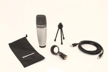 SAMSON C03U Dual Large Diaphragm USB Multi Pattern Mic for Podcast