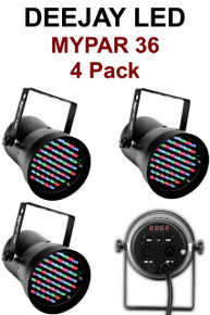 Deejay LED Mypar 36 4 Pack Pinspots