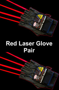 OMNISISTEM RED LASER GLOVES Left & Right 4 Unique Beams Each