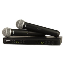 SHURE BLX288/PG58-H10 Dual Receiver (2) Handheld Wireless Mic System $15 Instant Coupon Use Promo Code: $15-OFF