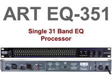 ART EQ351 Single 31 Band 1U Rackmount Equalizer Processor