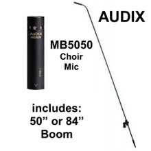 "AUDIX MB5050 Choir Mic with M1250B Cardioid Capsule and 50"" or 84"" Boom"