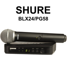 SHURE BLX24/PG58 Handheld Wireless Mic System $10 Instant Coupon use Promo Code: $10-OFF