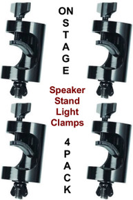 ON-STAGE LTA8770 4-Pack Non Marring Light Fixture Speaker Stand Clamps