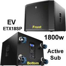 EV ETX18SP 1800 Watt Sub Woofer With Casters $50 Instant Coupon use Promo Code: $50-Off