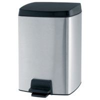 Brabantia 10 Litre Rectangular Pedal Bin in Matt Steel