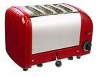 Dualit 4 Slot Toaster 40353 Red Finish