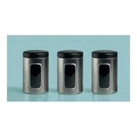 Brabantia 1.4l 3 Storage Window Canisters in Almond