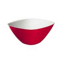 Guzzini Vintage Square 25 Cm Two-Tone Bowl in Red