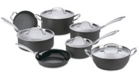 Cuisinart Green Gourmet 7 Piece Anodised Pan Set GG12U