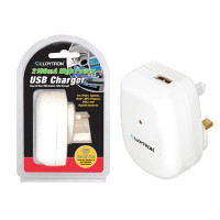 Lloytron A1583WH 'High Power' 2100mA USB Charger in White
