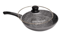 Stonewell Scratch Resistant 24cm Deep Pan with Lid