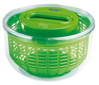 Zyliss Easy Spin Salad Spinner in Transparent Green