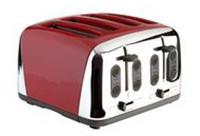 Prestige  Deco 4 Slice Toaster in Red