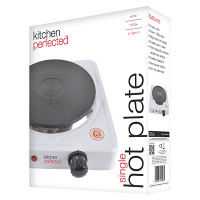 Lloytron KitchenPerfected 1500w Single Hotplate in White