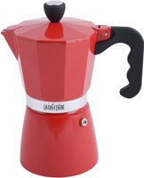 La Cafetiere 6-Cup Classic Espresso Coffee Maker Percolator in Red