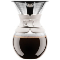 Bodum Pour Over Coffee Maker With Permanent Filter 1 Litre - Off White