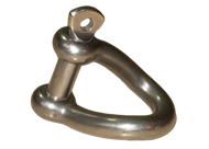 Large Forged Stainless Steel Twisted Shackle
