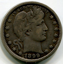 1899 O Barber quarter , G