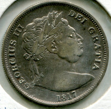 1817 Great Britain 1/2 Crown George III, VF