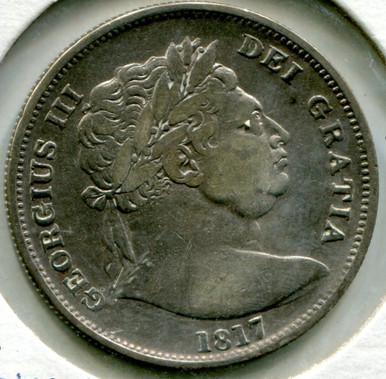 1817 Great Britain 1/2 Crown George III, VF